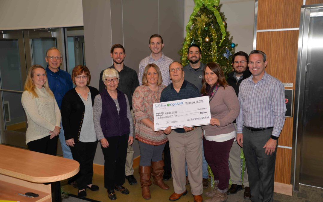 Employees Committee Donates $10,000 To Valiant Living