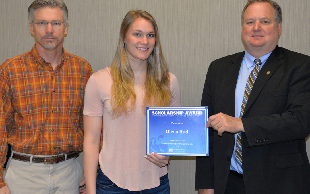 Madison's Olivia Rud Receives $1,000 Basin Electric Scholarship