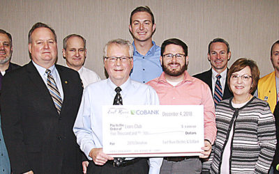 Madison Lions' Club Receives Donation from East River