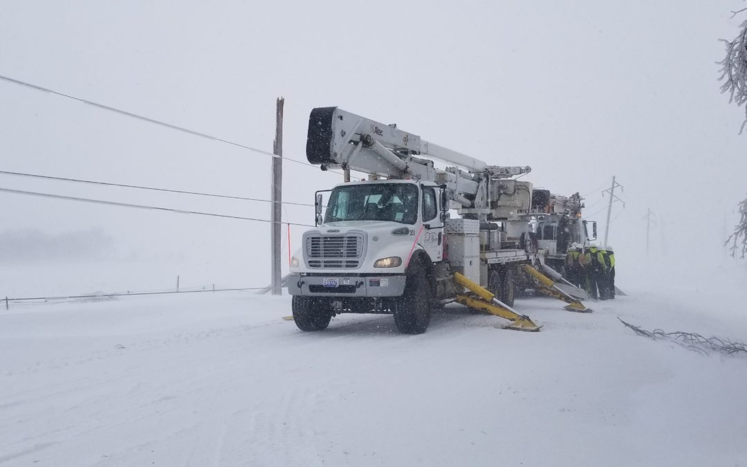East River Electric Power Cooperative Experiencing Power Outages due to April Blizzard