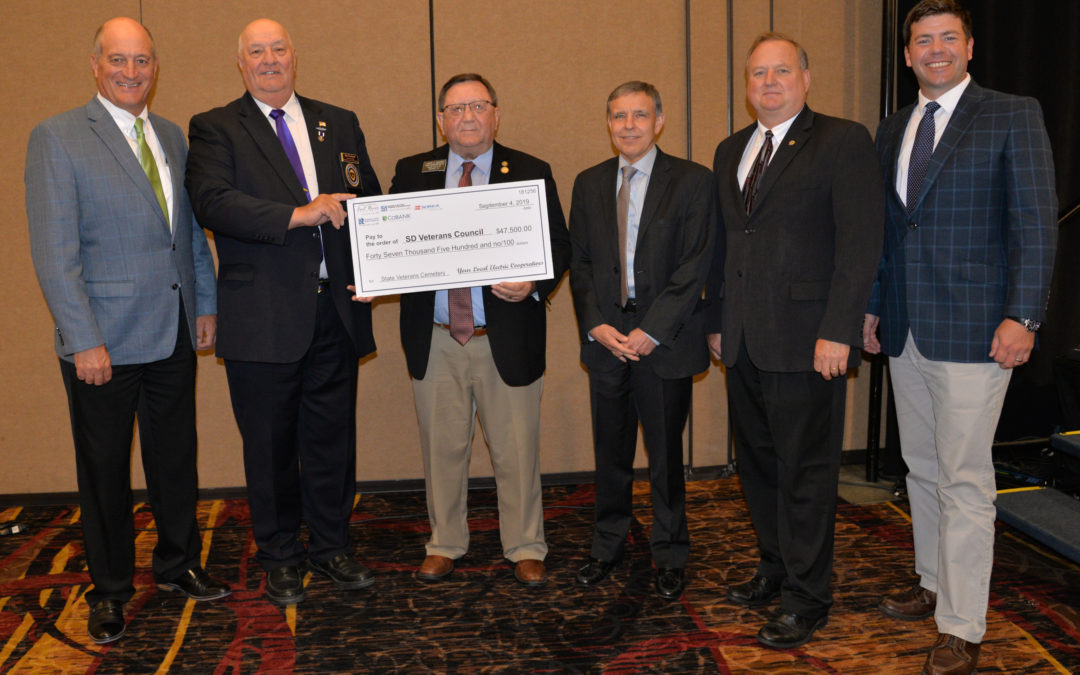 Electric Cooperatives and CoBank Donate $47,500 to State Veterans Cemetery