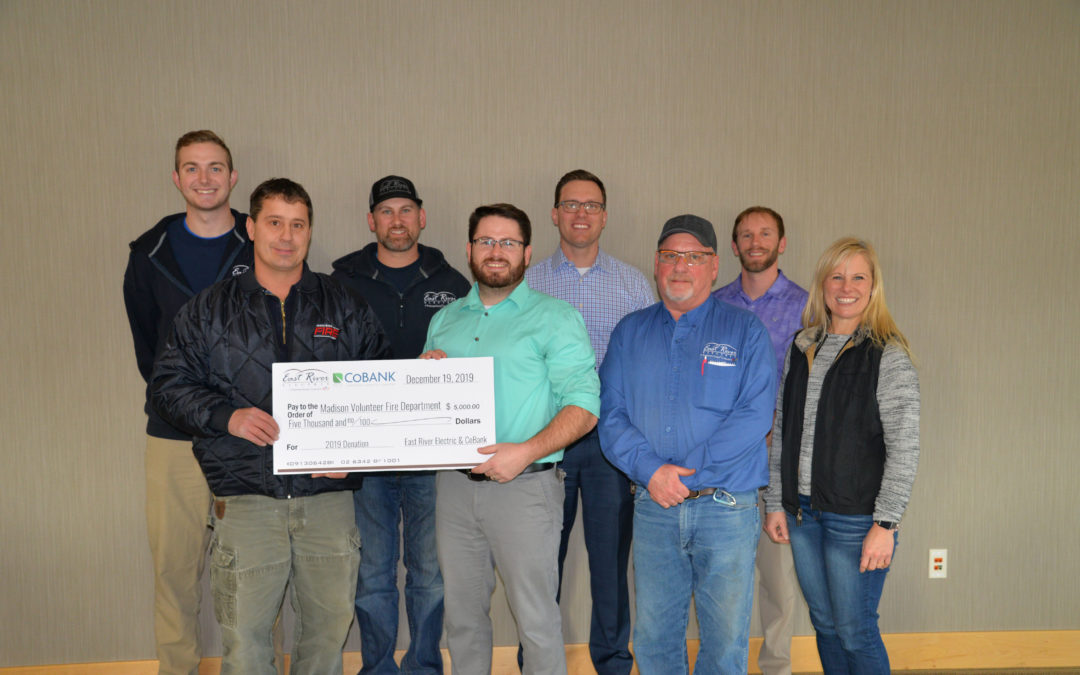 Madison Fire Department Receives Donation from East River